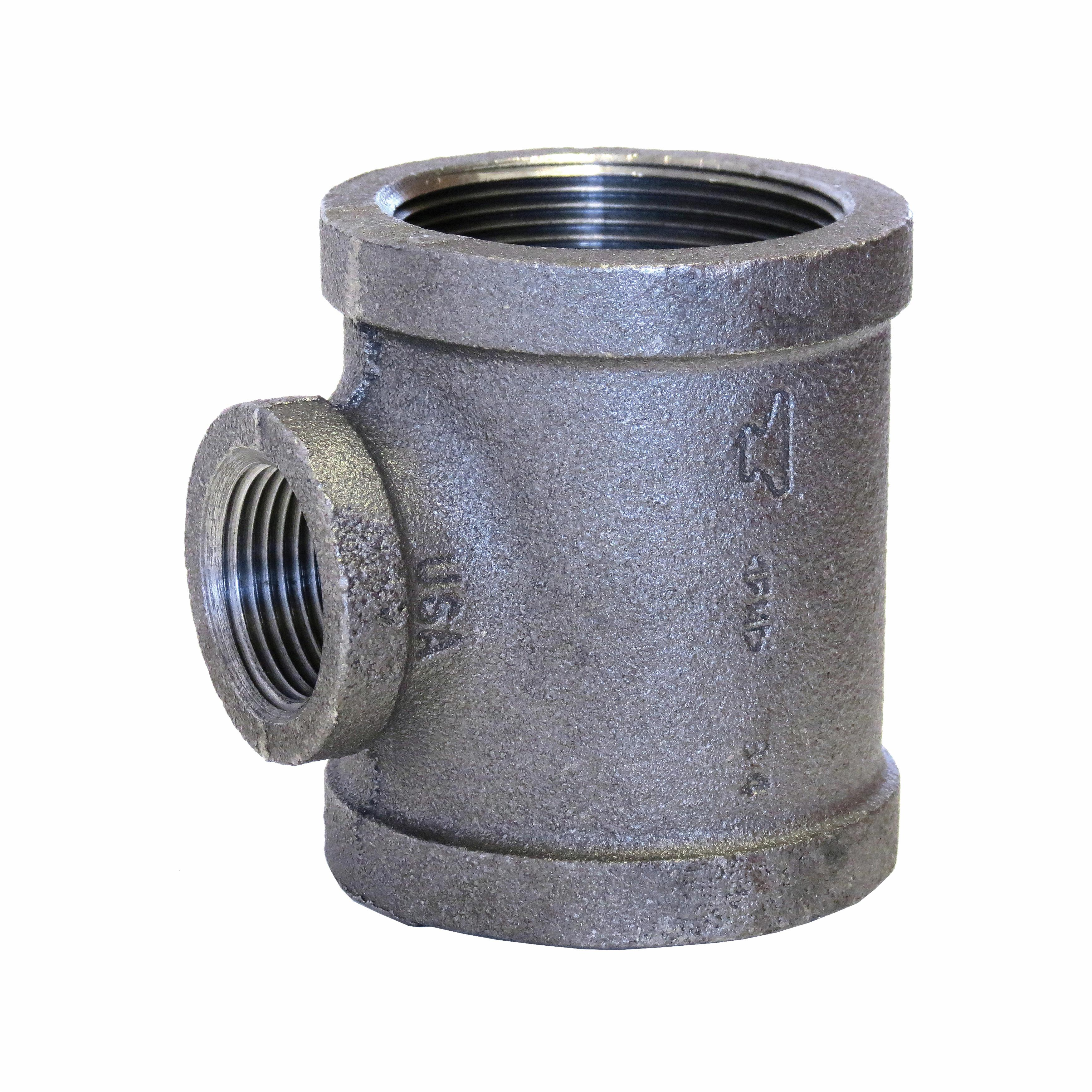 SPF/Anvil™ 0811049212 FIG 3105R Reducing Pipe Tee, 2 x 2 x 1 in, FNPT, 150 lb, Malleable Iron, Galvanized, Import