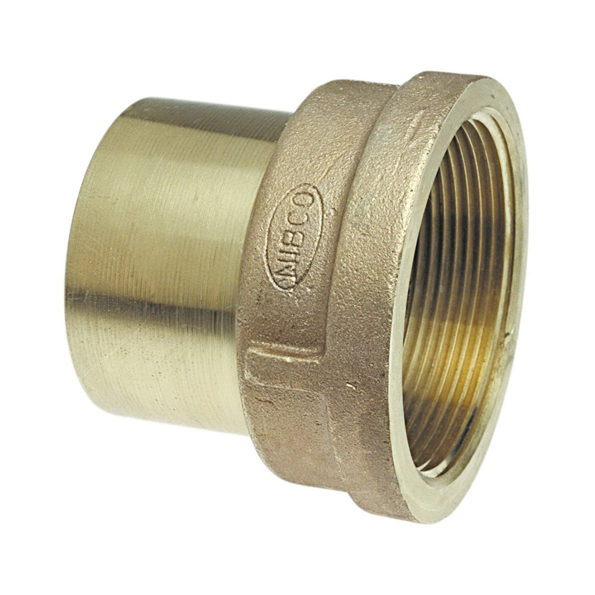 NIBCO® B028650 703-2R Adapter, 3/4 x 1/2 in, Fitting x FNPT, Bronze, Domestic