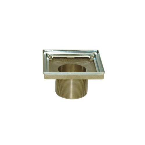 Newport Brass® 277-01 Shower Drain Throat, For Use With 2 in IPS Drain Body, 4 in, Solid Brass/Stainless Steel