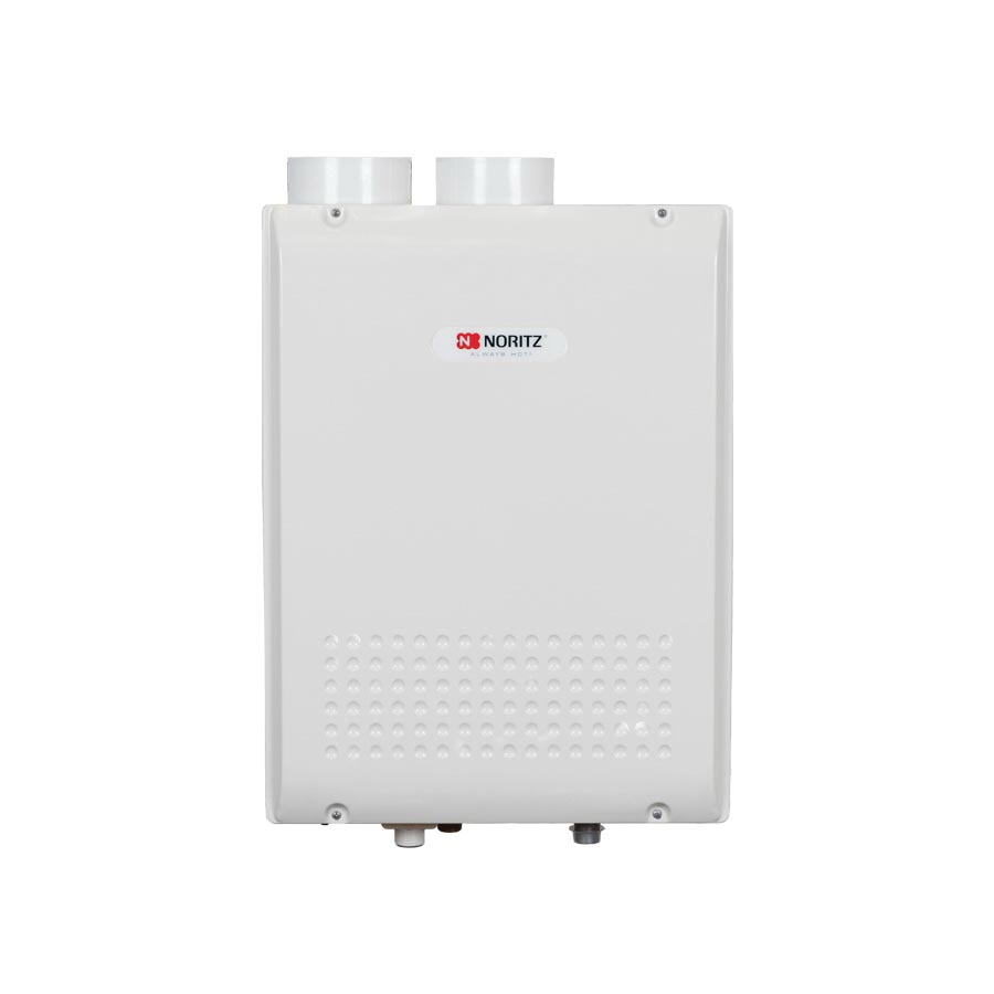 Noritz® NRC98-DV-NG High Efficiency Tankless Water Heater, Natural Gas, 180000 Btu/hr Heating, Indoor, Condensing, 0.5 to 9.8 gpm, 3 in, 4 in Direct Vent, 0.9 Energy Factor, Commercial/Residential/Dual: Residential, Ultra Low NOx: No