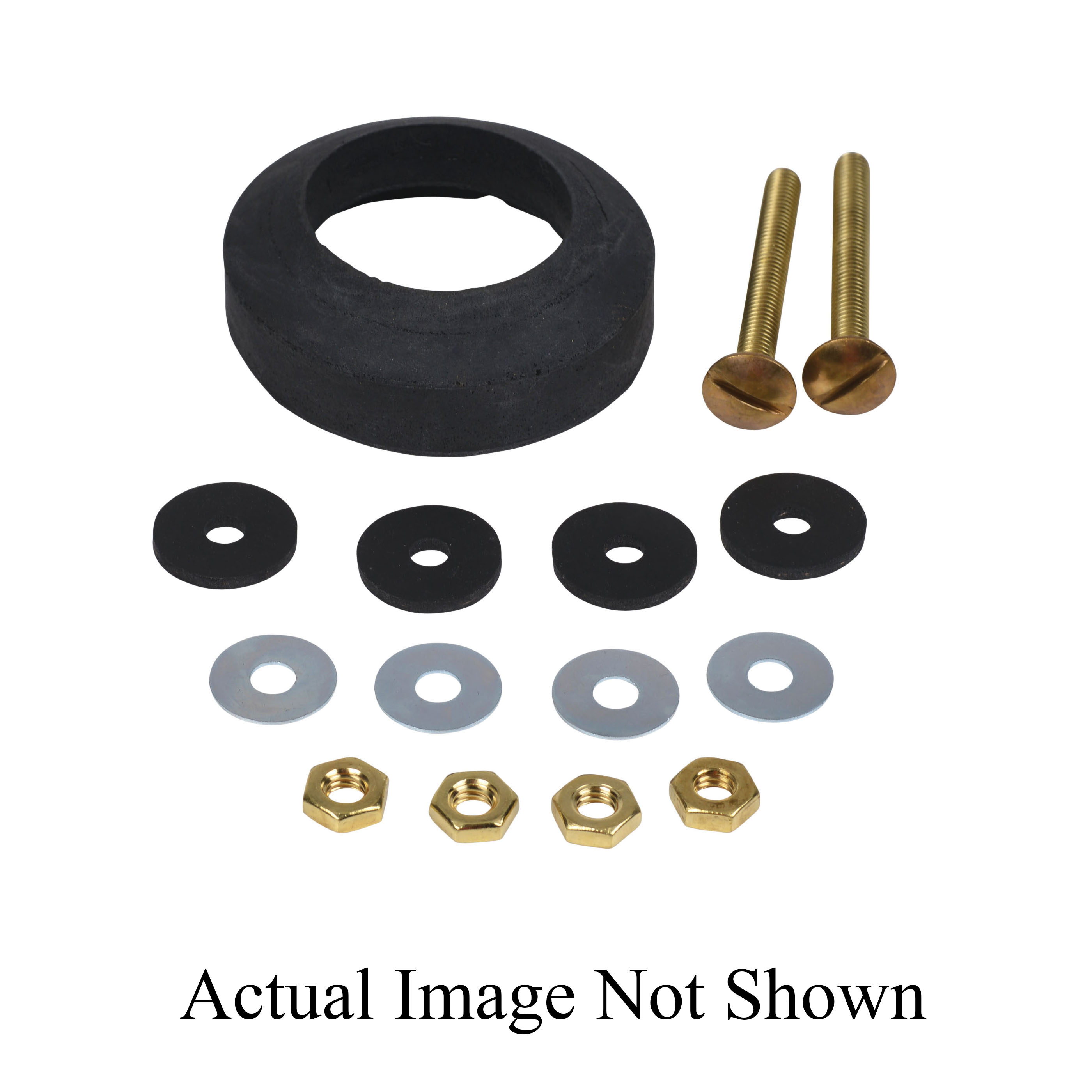 Harvey® 072035 Double Thick Tank-to-Bowl Gasket Kit With Hex Recess and Bolt Kit, For Use With 3 and 4 in Waste Lines, Sponge Rubber