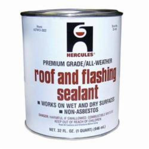 Hercules® 25405 Premium Roof and Flashing Sealant, 1 qt Can Container, Black