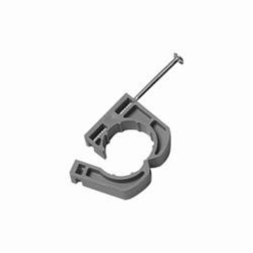 Oatey® 33906 Full Pipe Clamp With Barbed Nail, 3/4 in Pipe, Polypropylene