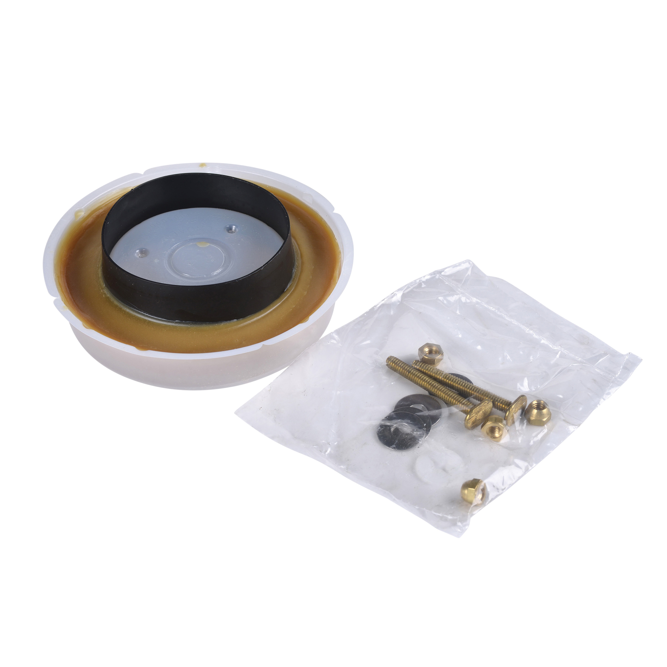Hercules® 90224 Johni-Ring® Wax Gasket With Plastic Horn, For Use With 3 and 4 in Waste Lines, 4 in, Gold