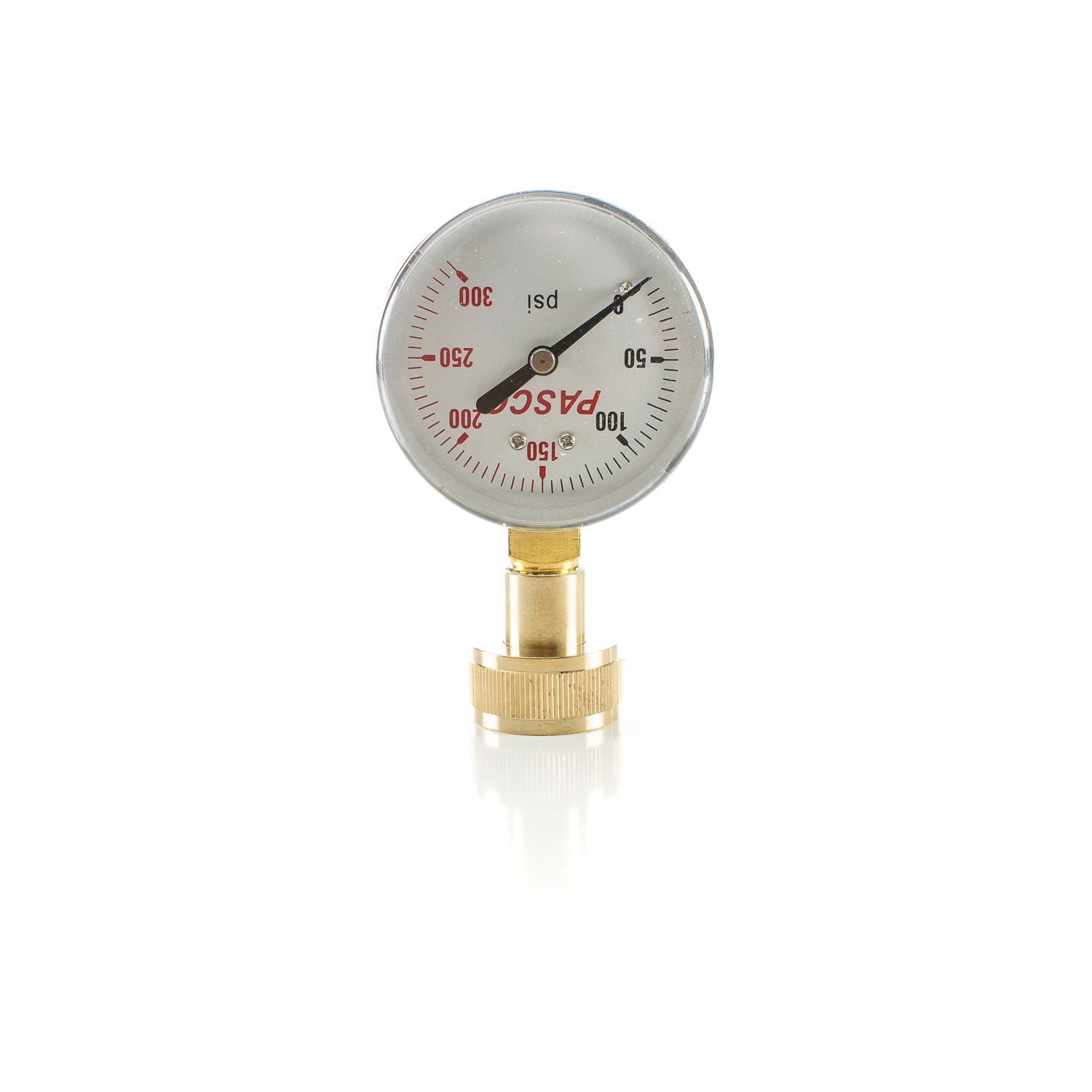 PASCO 1430 Water Test Gauge, 0 to 300 psi, 3/4 in Female Hose Thread Connection, 2-1/2 in Dial