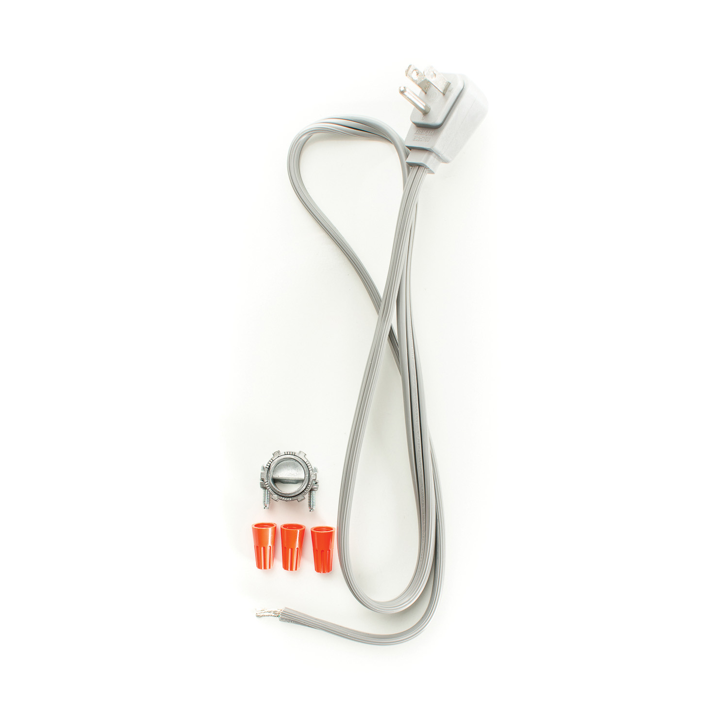PASCO 8121 SPT Disposal Cord With Angle Cap and Wire Nuts, 3 ft L, 13 A, Romex Pigtail Connector
