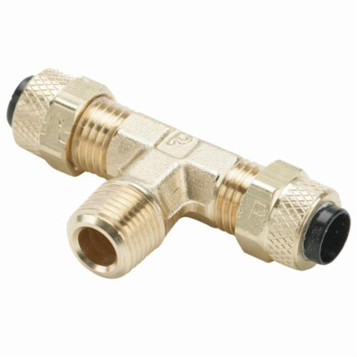 Parker Hannifin 172P-4-2 Poly-Tite Brass Male Branch Tee Fitting 1//4 Compression Tube x 1//8 Male Thread