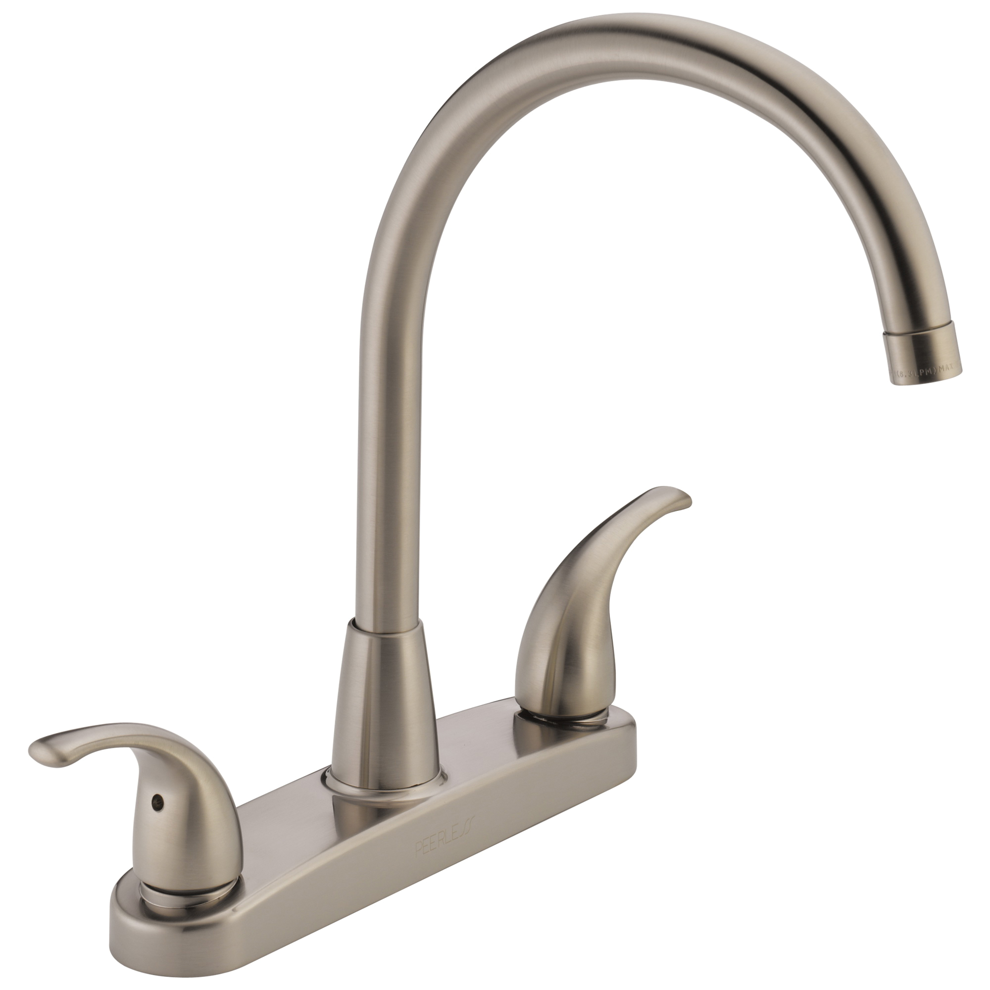 Peerless® P299568LF-SS Choice Kitchen Faucet, 1.8 gpm, 8 in Center, 2 Handle, Chrome Plated, Import