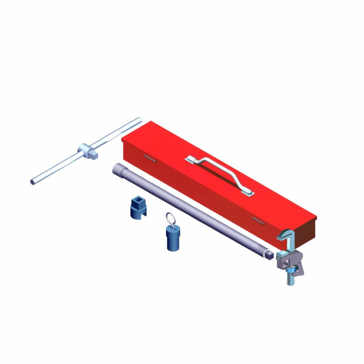 Perfecto 1700-SD Right Angle Pipe Wrench (Super Deluxe Kit)