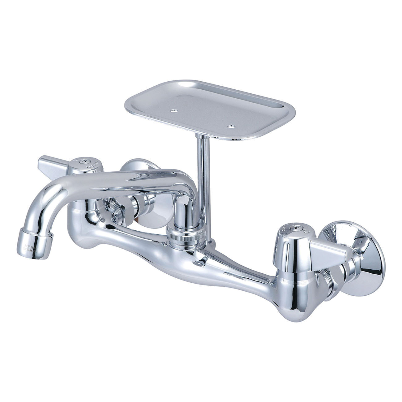 Central Brass 0048-TA Kitchen Faucet, 1.5 gpm, 7-7/8 to 8-1/8 in Center, 2 Handles, Polished Chrome