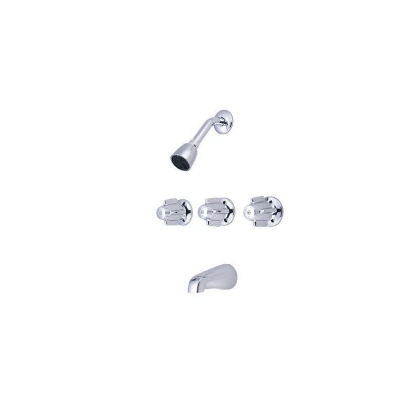 Central Brass 0971-Z Tub and Shower Set, 2.5 gpm Shower, Hand Shower Yes/No: No, Polished Chrome