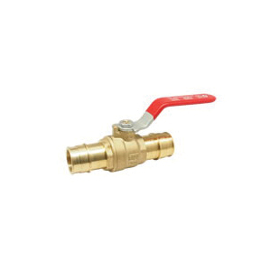 RWV® 5015AB 1 Ball Valve With Handle, 1 in, PEX Barb, 400 lb, Brass Body, Regular Port