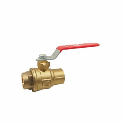 RWV® 5049F 3/4 2-Piece Standard Ball Valve With Handle, 3/4 in, Solder, Forged Brass Body, Full Port, Graphite Softgoods
