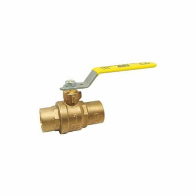 RWV® 5549AB 1 2-Piece Ball Valve With Handle, 1 in, Solder, Forged Brass Body, Full Port, PTFE Softgoods