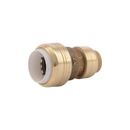 Sharkbite® UIP4008 Transition Coupling, 1/2 in, CTS x PVC, Brass, Import