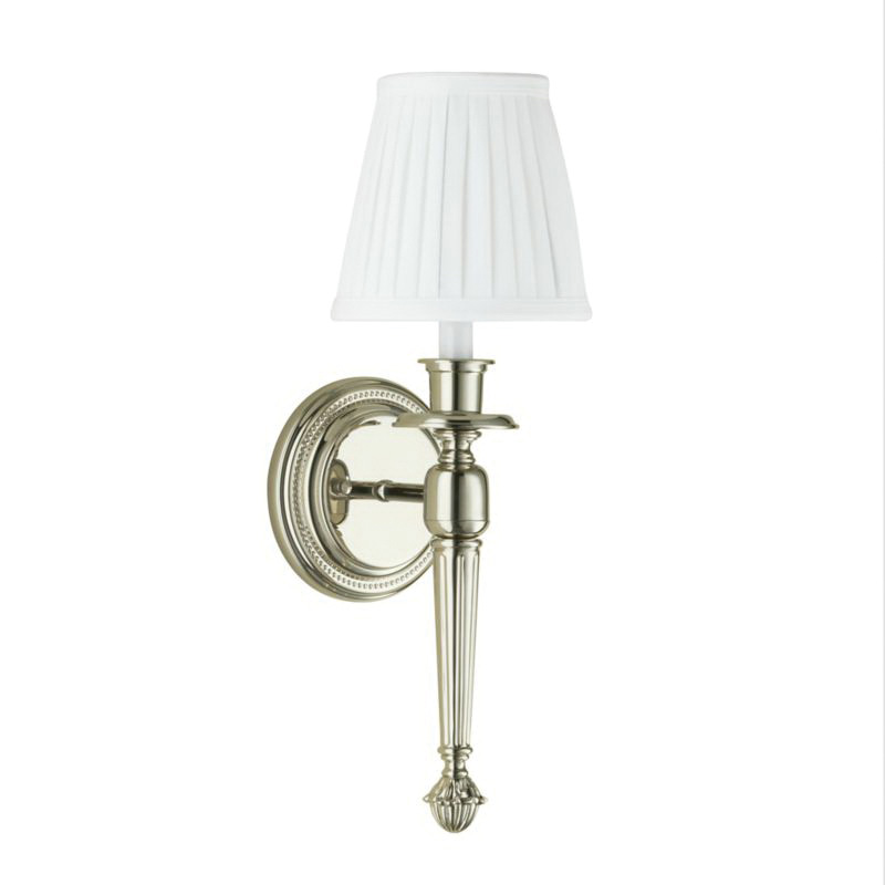 Robern® MLLWFYPN Foyer Wall Sconce, Incandescent Lamp, 120 VAC, Polished Nickel, 1 Lamp