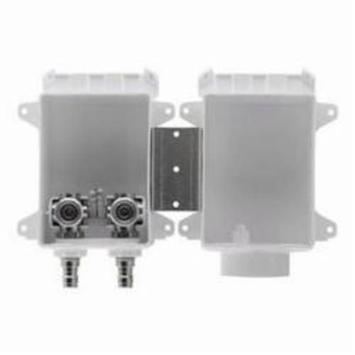 Tomahawk OxBox™ 696-G2303XF Outlet Box With Valve, 1/2 in PEX F1807 Crimp™, For Use With Washing Machine, ABS, Domestic