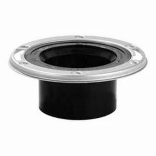 Tomahawk TKO™ 887-AM Open Closet Flange With Stainless Steel Swivel Ring, 3 x 4 in Hub Pipe, ABS, Domestic