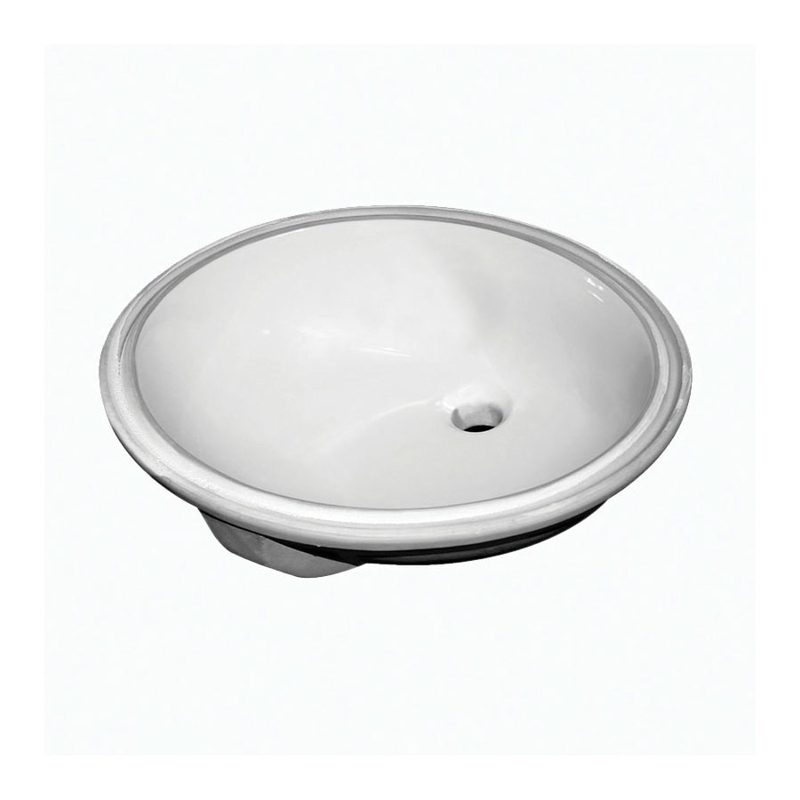 Sloan® 3873001 SS-3001 Lavatory Sink With Front Overflow, Oval, 19-1/2 in W x 16-1/2 in D x 7-1/2 in H, Countertop/Under Mount, Vitreous China, White