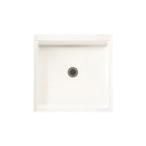 Swan® FF03232MD.010 Single Threshold Shower Floor With Fit-Flo™ Drain, White, Center Drain, 32 in W x 32 in D, Domestic