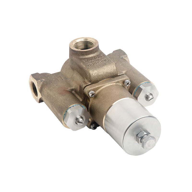 Symmons® 7-700 7 Series TempControl® Thermostatic Mixing Valve, 1-1/4 in FNPT Inlet x 1-1/2 in FNPT Outlet, 10 psi, 43 gpm, Brass/Bronze/Stainless Steel Body