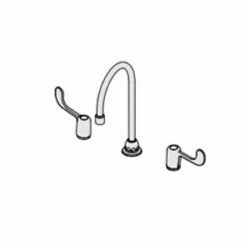 Symmons® S-254-LWG Origins® Widespread Lavatory Faucet, 1.5 gpm, 6-5/8 in H Spout, Polished Chrome, 2 Handles