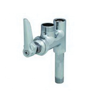 T & S B-0155-LN Add-On Faucet, 9.46 gpm, 1 Handle, Polished Chrome