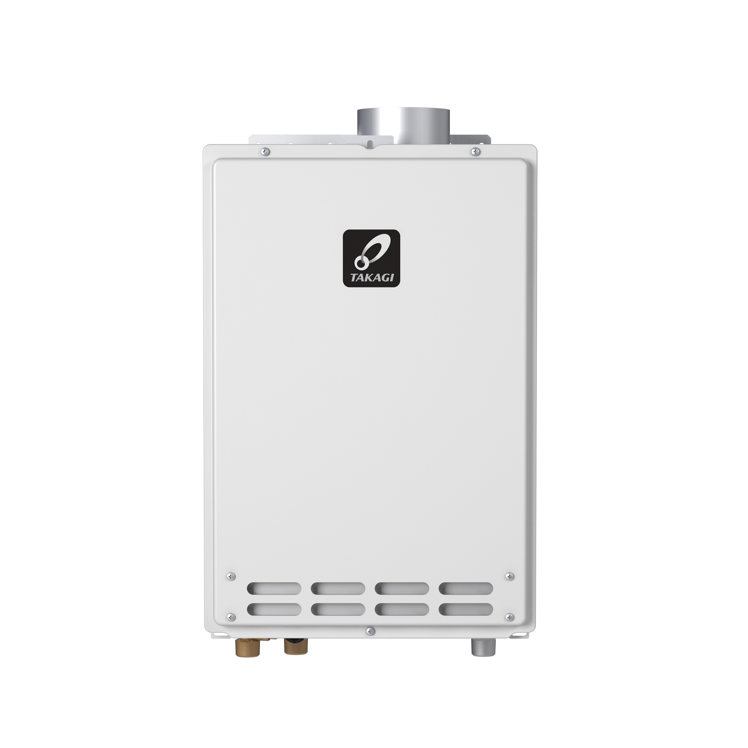 Takagi 100123265 K4 Tankless Water Heater, Natural Gas, 190000 Btu/hr Heating, Indoor, Non-Condensing, 8 gpm, 4 in, 0.8 Energy Factor, Commercial/Residential/Dual: Dual, Ultra Low NOx: No