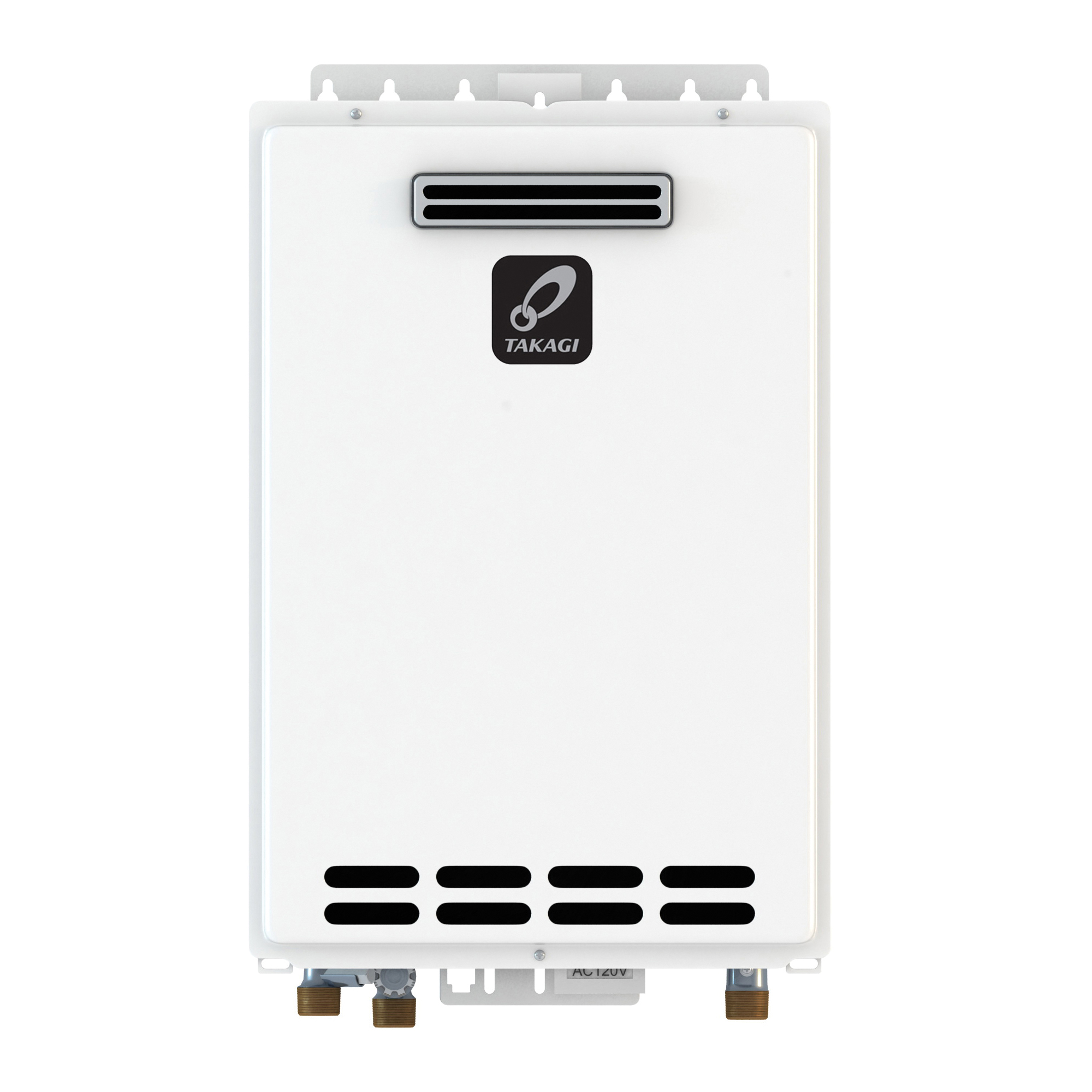 Takagi 100123252 KJr2 Tankless Water Heater, Natural Gas, 140000 Btu/hr Heating, Outdoor, Non-Condensing, 6.6 gpm, 4 in, 0.79 Energy Factor, Commercial/Residential/Dual: Dual, Ultra Low NOx: No