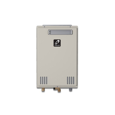 Takagi 100234177 TK-510U Tankless Water Heater, Natural/Liquid Propane, 199000 Btu/hr Heating, Outdoor, Non Condensing, 10 gpm, 4 in, 0.81 Energy Factor, Commercial/Residential/Dual: Dual, Ultra Low NOx: Yes
