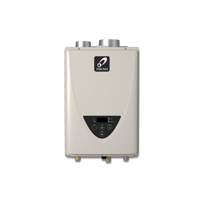 Takagi 100227721 TK-510U Tankless Water Heater, Natural/Liquid Propane, 199000 Btu/hr Heating, Indoor, Non Condensing, 10 gpm, 4 in Power Direct Vent, 0.82 Energy Factor, Commercial/Residential/Dual: Commercial, Ultra Low NOx: Yes