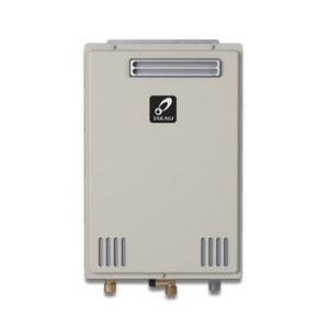 Takagi 100227703 200 Tankless Water Heater, Natural/Liquid Propane, 140000 Btu/hr Heating, Outdoor, Non-Condensing, 6.6 gpm, 4 in, 0.81 Energy Factor, Commercial/Residential/Dual: Dual, Ultra Low NOx: Yes