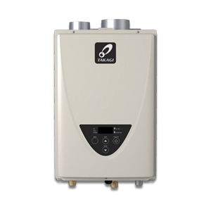 Takagi 100227697 200 Tankless Water Heater, Natural/Liquid Propane, 140000 Btu/hr Heating, Indoor, Non-Condensing, 6.6 gpm, 4 in Direct Vent, 0.82 Energy Factor, Commercial/Residential/Dual: Dual, Ultra Low NOx: Yes