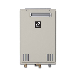 Takagi 100227715 200 Tankless Water Heater, Natural/Liquid Propane, 190000 Btu/hr Heating, Outdoor, Non-Condensing, 8 gpm, 4 in, 0.82 Energy Factor, Commercial/Residential/Dual: Dual, Ultra Low NOx: Yes