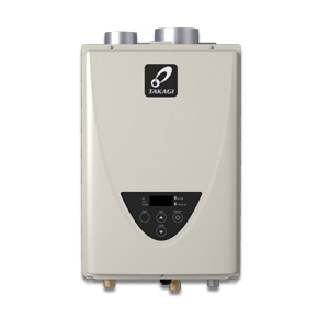 Takagi 100227709 200 Tankless Water Heater, Natural/Liquid Propane, 190000 Btu/hr Heating, Indoor, Non-Condensing, 8 gpm, 4 in Direct Vent, 0.81 Energy Factor, Commercial/Residential/Dual: Dual, Ultra Low NOx: Yes