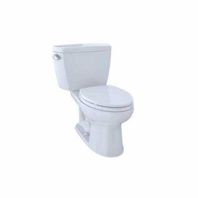 Toto® CST744EF.10#01 Eco Drake® 2-Piece Universal Height Close Coupled Toilet With Left-Hand Chrome Trip Lever, Elongated Bowl, 17-1/4 in H Rim, 1.28 gpf, Cotton White, Import