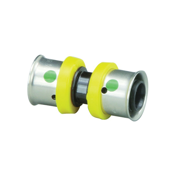 Viega 49403 PureFlow® Pipe Coupler, 1/2 in, Press, Polymer, Domestic