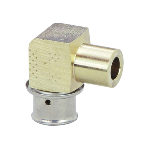 Viega 99310 PureFlow® 90 deg Pipe Elbow, 1/2 in, Press x Fitting, Bronze, Import