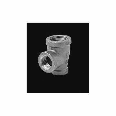 Ward Mfg 1DX1X1D.NMT Reducing Pipe Tee, 1-1/2 x 1 x 1-1/2 in, FNPT, 150 lb, Malleable Iron, Galvanized, Domestic