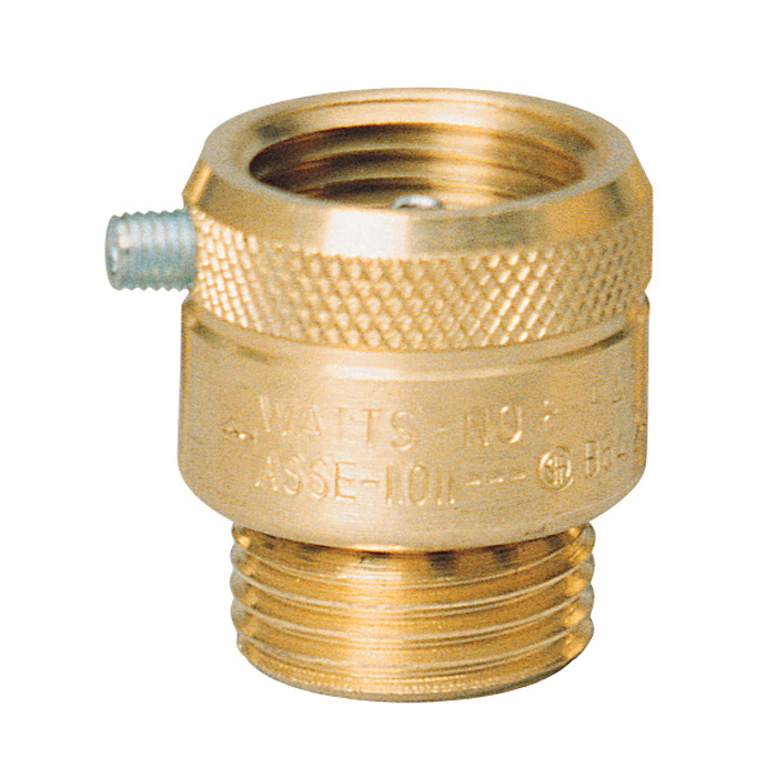 WATTS® 0061983 8 Series, 8B Vacuum Breaker, 3/4 in, Female Hose Threaded x Male Hose Threaded, Brass Body, Import