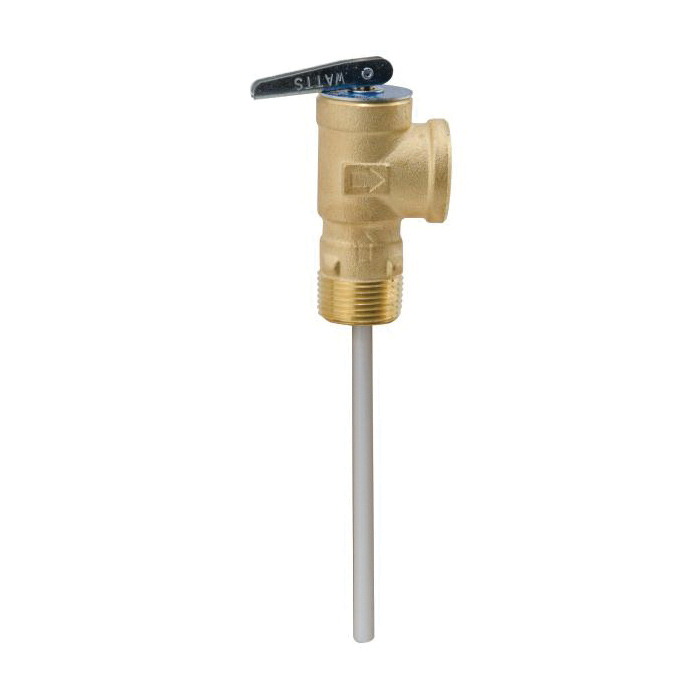 WATTS® 0556002 LF100XL, LFLL100XL Temperature/Pressure Relief Valve, 3/4 in, MNPT x FNPT, 150 psi, Copper Alloy Body, Domestic