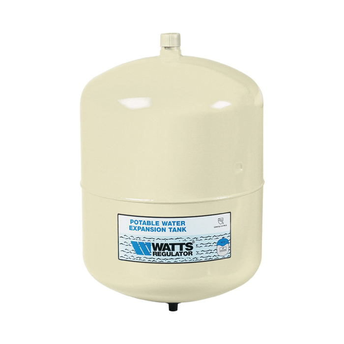 WATTS® 0067370 PLT Potable Water Expansion Tank, 2.1 gal Tank, 1.48 gal Acceptance, 150 psi, ASME Yes/No: No, 8 in Dia x 11 in H, Import