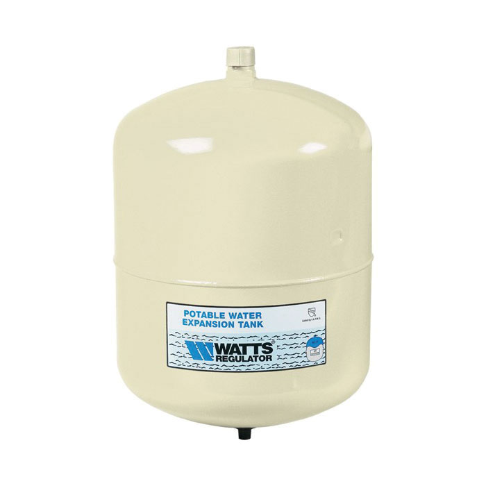 WATTS® 0067371 PLT Potable Water Expansion Tank, 4.5 gal Tank, 3.42 gal Acceptance, 150 psi, ASME Yes/No: No, 10-1/2 in Dia x 13-1/2 in H, Import
