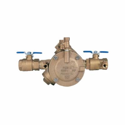 Febco® 0683007 LF825Y, LF825Y-QT RP Y-Pattern Reduced Pressure Zone Assembly, 1 in, Threaded, Quarter-Turn Ball Valve, Cast Copper Silicon Alloy Body, Import