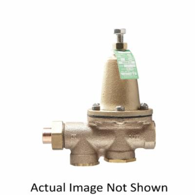 WATTS® 0009331 LF25AUB, LF25AUB-S-Z3 Standard Capacity Pressure Reducing Valve With Bypass Check Valve, 1 in, Solder Union Inlet x FNPT Outlet, 25 to 75 psi, Copper Silicon Alloy Body, Domestic