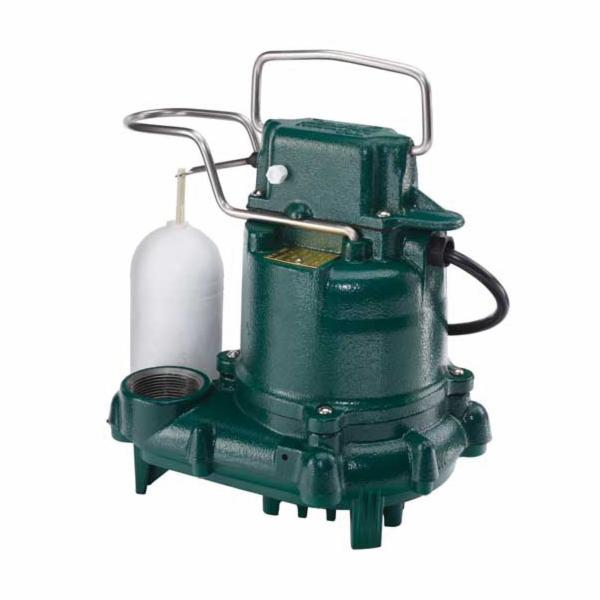 Zoeller® 53-0016 Mighty-Mate 50 Single Phase Single Seal Automatic Submersible Pump, 43 gpm, 1-1/2 in NPT Outlet, 3/10 hp, Cast Iron