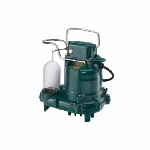 Zoeller® 53-0001 Mighty-Mate M53 Automatic Effluent or Dewatering Submersible Pump, 43 gpm, 1-1/2 in Outlet, 3/10 hp, Cast Iron