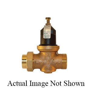 Zurn® Wilkins 114-NR3XLDUC Pressure Reducing Valve With Integral By-Pass Check Valve and Strainer, 1-1/4 in, Double Union FNPT x Female C Union, 400 psi, Cast Bronze Body